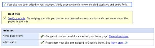 add google webmaster