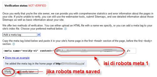 verify google webmaster