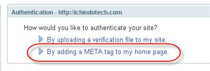 select meta tag